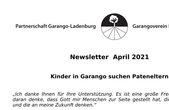 Newsletter April 2021